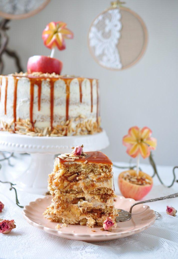 Caketime by Tamaris: Apfel- Karamell Torte mit Apfel- Dessert