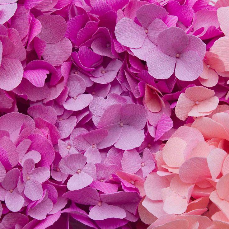HYDRANGEA paper flowers by A Petal Unfolds