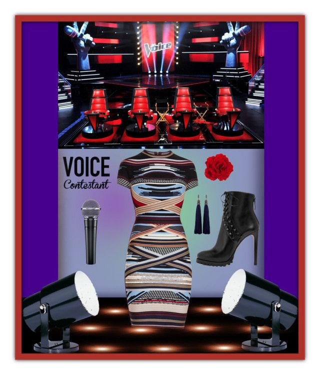 """""""TV Fashion:  The Voice"""" by constanceann ❤ liked on Polyvore featuring Alaïa, Dot & Bo, Hervé Léger, Lanvin, thevoice, TVFashion and YahooView"""