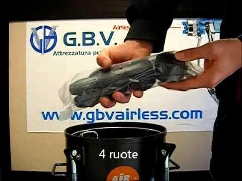 Serbatoio sottopressione GBV airless / Pressure vessel with a gravity pressure regulating product Capacity: 10 lt. / Min. 20 lt. / Min. 40 lt. / Min. 60 lt. / Min. Max: 4.1 bar / Recipiente a presión con un producto de regulación de presión por gravedad Capacidad:. 10 lt / min. 20 lt. / Min. 40 lt. / Min. 60 lt. / Min. Max: 4,1 bar