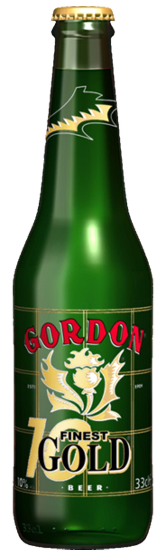 Gordon Finest Gold - Cerveza belga de tipo Euro Strong Lager, rubia fuerte - Alcohol 10% - BA SCORE 77 okay