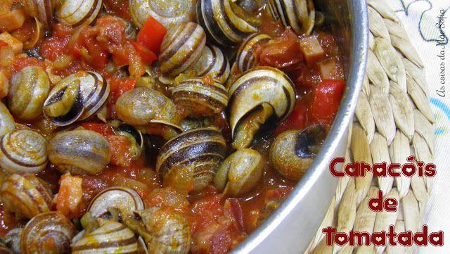 Caracóis de tomatada