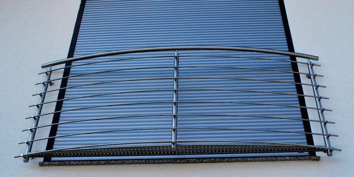 Französische Balkone / Absturzsicherungen aus Edelstahl - Niro. Super Qualität zum super Preis!