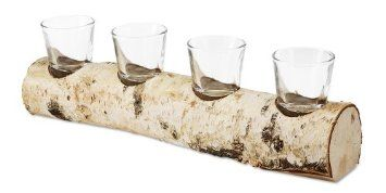 Birch Tea Light Candle Holder. Easy DIY Rustic Decor! (Put on a mantle, or as a centerpiece on a long table!)