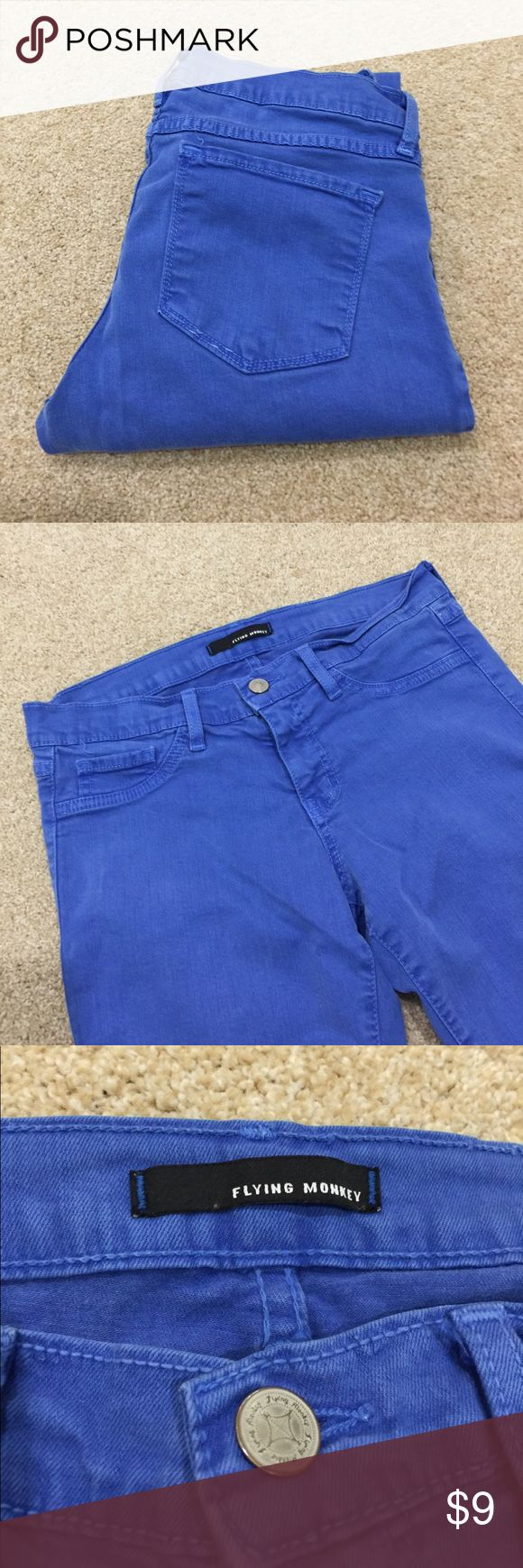 Flying Monkey Jeans Juniors blue Denim Flying Monkey Jeans, Size 9. Good gently used condition. No holes, rips, tears or stains. Have some slight stretch to them. 30% off 3+ items in my closet.  BUNDLE & SAVE!! Flying Monkey Jeans Skinny
