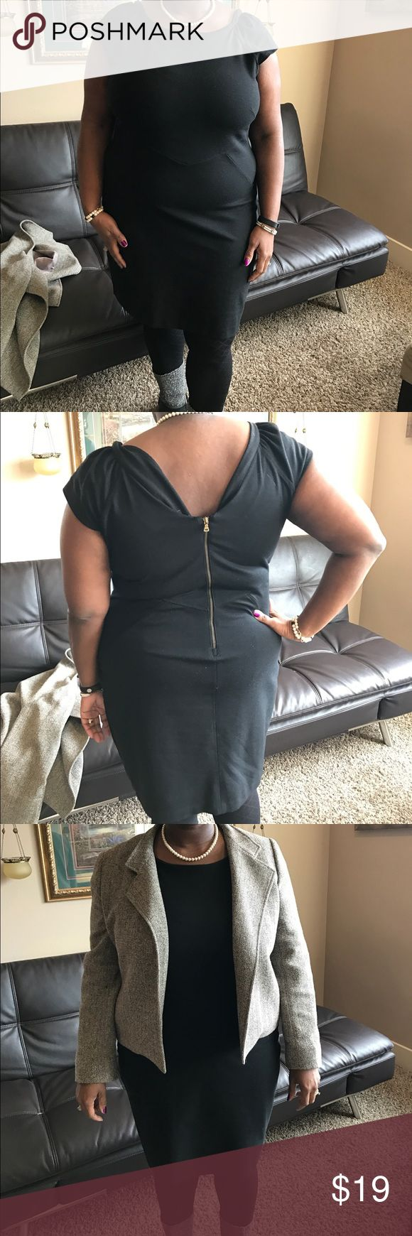 Little Black Dress Woman Clothes Very comfy. Mini black dress. Size 18. True to size. It has stretch. I wore while wearing between 18s and 20s GAP Dresses Mini
