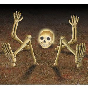this light up lawn skeleton is perfect for halloween and hes on sale - Light Up Halloween Decorations