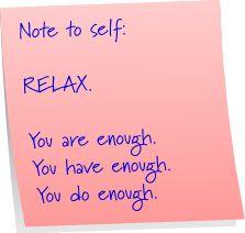 Good reminder : )