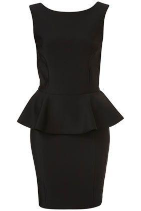 LBD: Black Pencil Dresses, Black Peplum Dresses, Scubas Pencil, Peplum Scubas, Peplum Color Pink, Beautiful Dresses, Little Black Dresses, Work Dresses, Topshop
