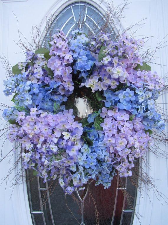 front door wreaths | hydrangea wreaths for front door