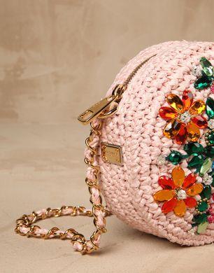 GLAM RAFIA E RICAMO CRISTALLI - Borse piccole in tessuto - Dolce&Gabbana - Inverno 2016