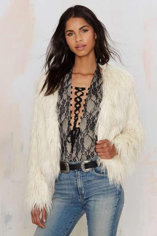 Glamorous Jessie Faux Fur Jacket