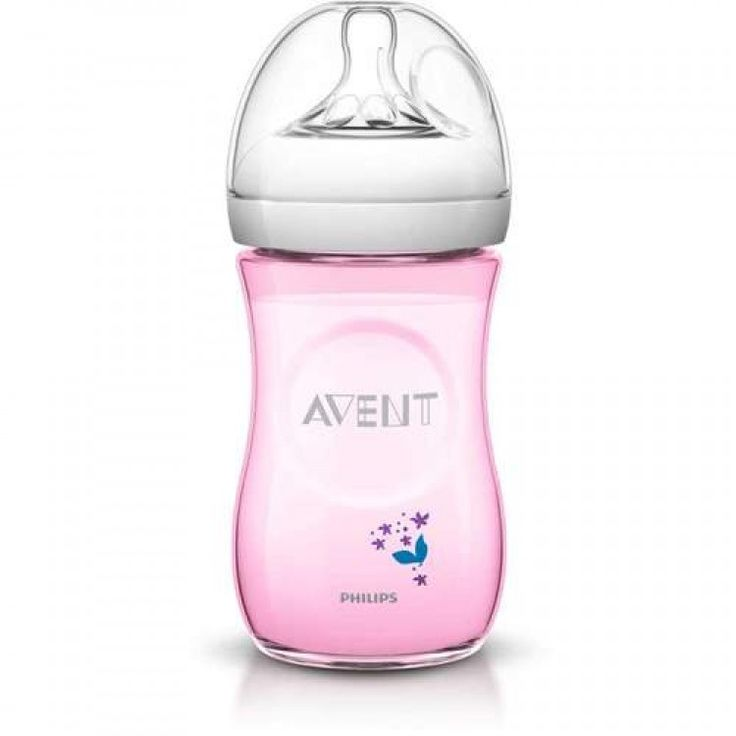Philips avent natural bottle decorated pink 260ml baby