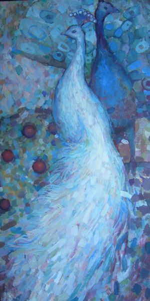 Peacock painting by Alexandra Kruglyak