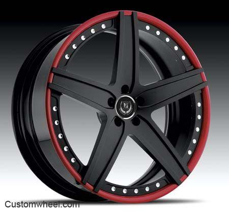 Custom Red and Black Rims   Modular Society Wheels - Dynasty Black & Red - Custom Wheels and ...