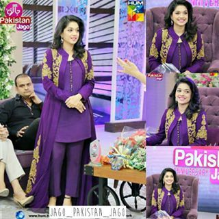 Sanam Jung in todays show! Celebrating 1 year anniversary of Jago Pakistan Jago with Sanam Jung! @jung_sanam #sanamjung #jagopakistanjago #humtv