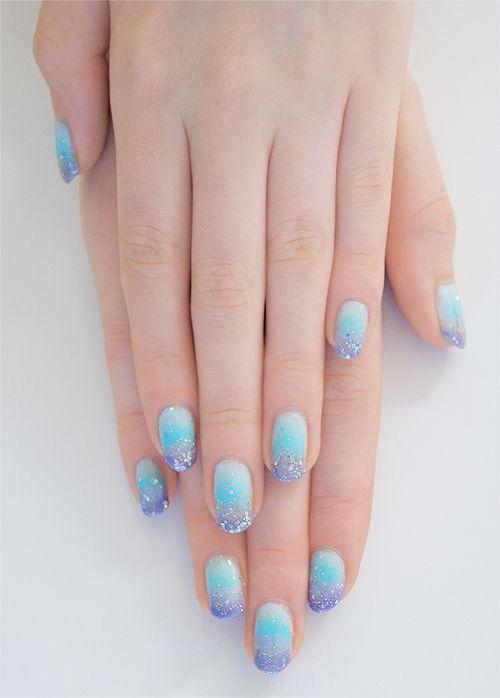 Nails Art, Sparkle Nails, Purple Nails, Glitter Nails, Nails Ideas, Something Blue, Winter Nails, Sparkly Nails, Blue Nails