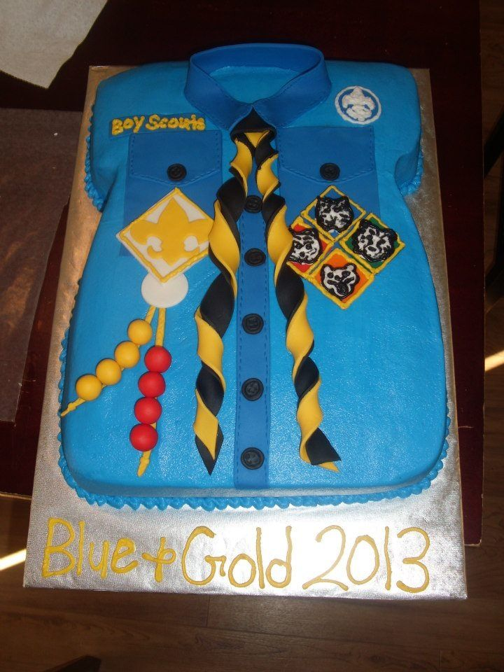 Boy Scouts / Cub Scouts Blue and Gold ceremony cake 2013