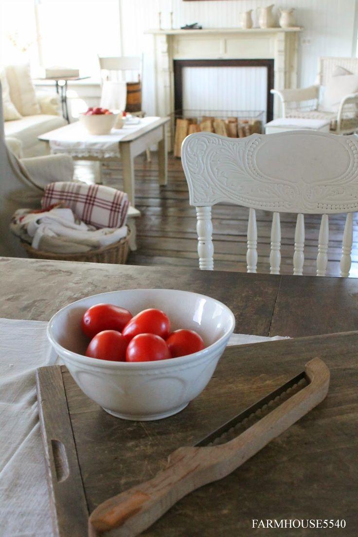 FARMHOUSE 5540: Red Stripe Linens