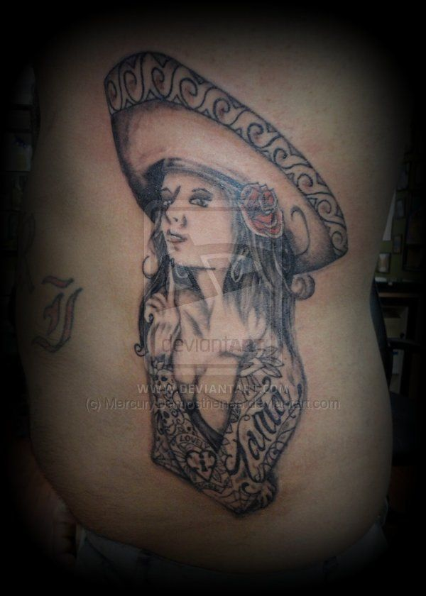 30 best drawing girl and mexican tattoos images on for Mexican girl tattoos