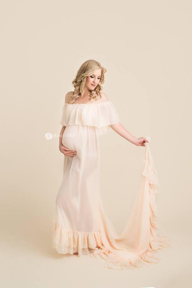 Robinett-Kleid – Boho schiere Umstandskleid   – Baby Shower