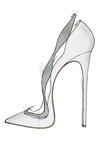 Disney Asked 9 Designers To Create Their Version Of Cinderella's Glass Slipper #refinery29  http://www.refinery29.com/cinderella-slipper-fashion-designers#slide-7  Alexandre Birman riffs on his classic Johanna shape....