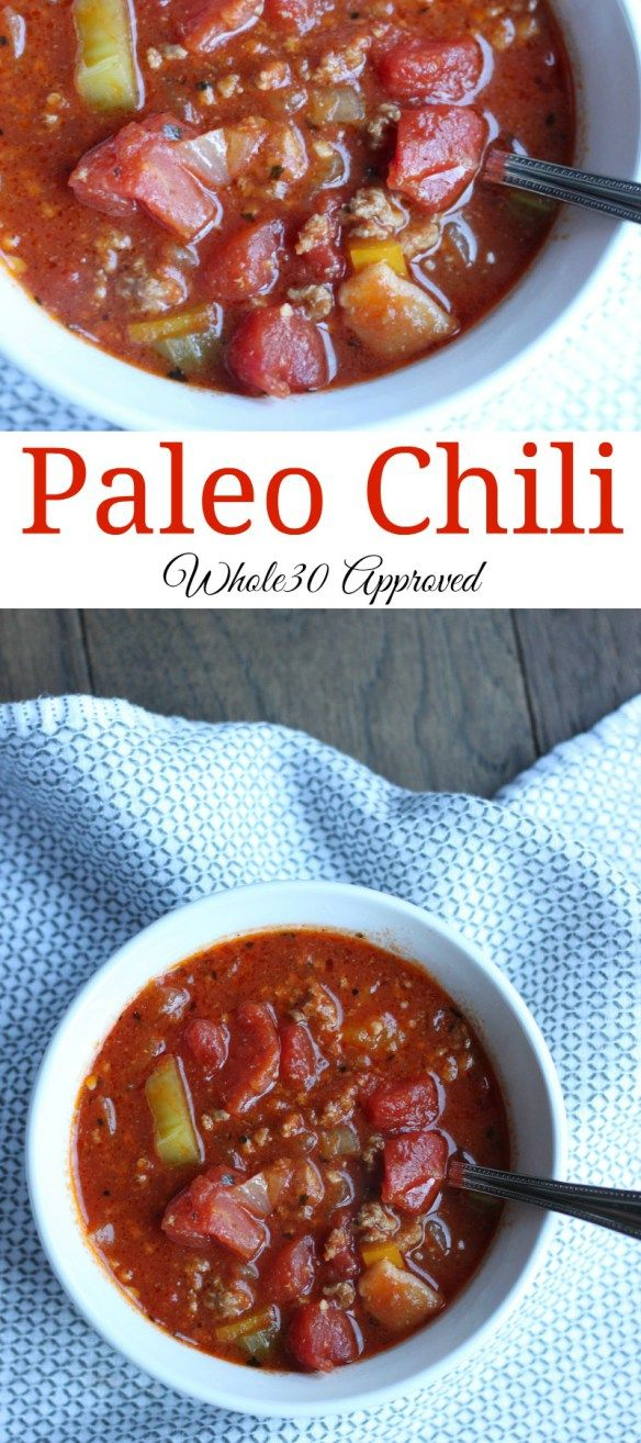 This paleo chili recipe will have you begging for seconds. #paleorecipes #paleo