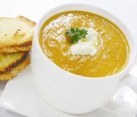 Thai Pumpkin Soup .