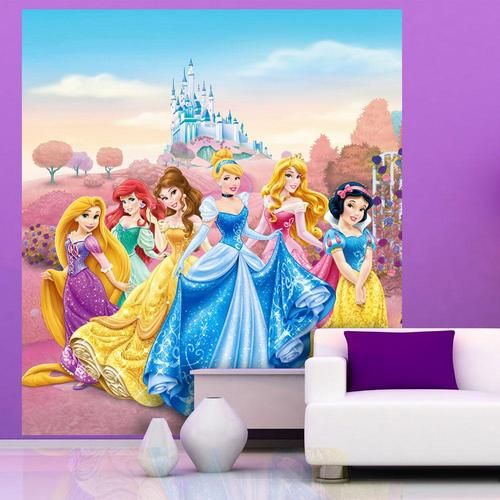 New disney princess 39 castle 39 large wall mural room decor for Disney princess castle mural