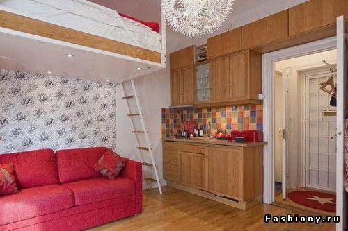 Невозможное возможно или как обустроиться на 20 кв.м / дизайн комнаты 24 кв.м