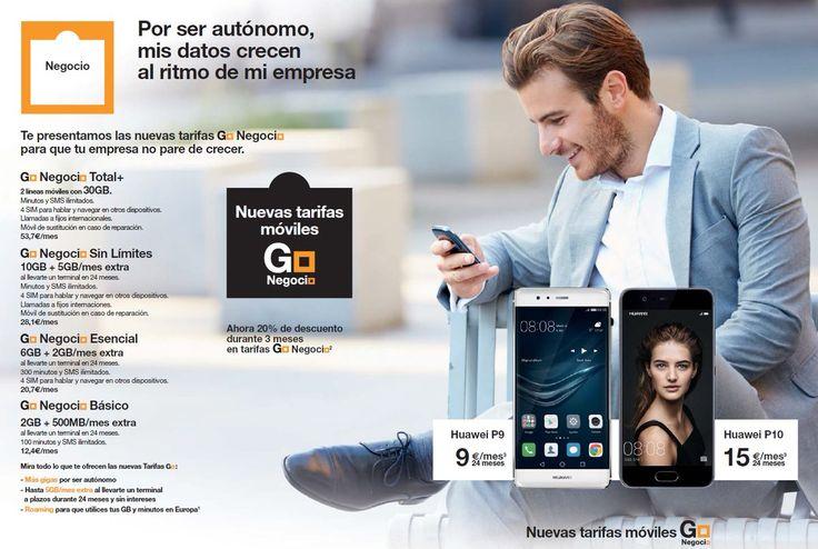 Comenzamos el lunes pensando en los autónomos y pequeños negocios. Go Negocio tiene las tarifas de móviles más completas en datos y servicios del mercado.    Visita nuestras tiendas Orange #Castellón #Alicante, #Murcia #Ibiza #Mallorca https://goo.gl/3dxYse