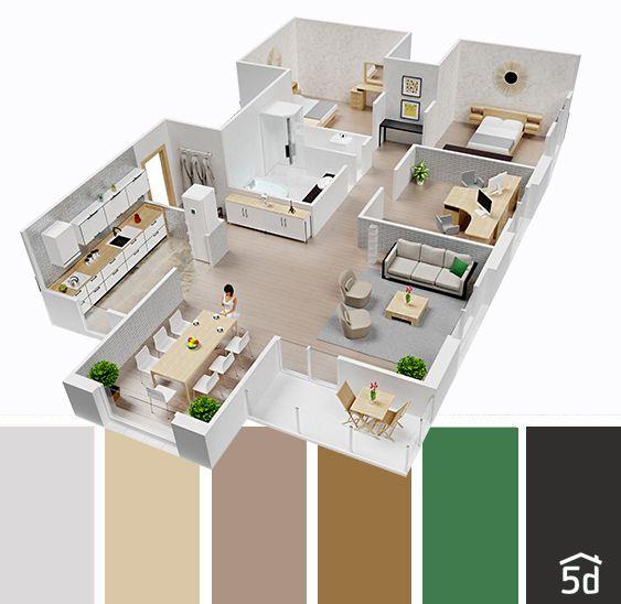 Color Balance Interior Ideas House Plan Layout Planner 5d