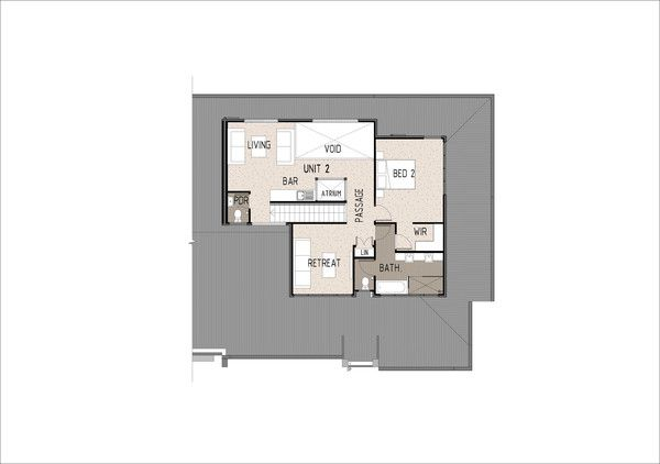 Duplex D3002.  First Floor Plan  This gorgeous modern duplex design is large enough to house two families. The duplex design is 2 x 3 bedroom units.