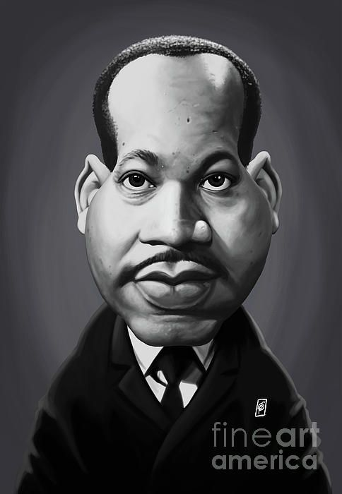 Martin Luther King art | decor | wall art | inspiration | caricature | home decor | idea | humor | gifts