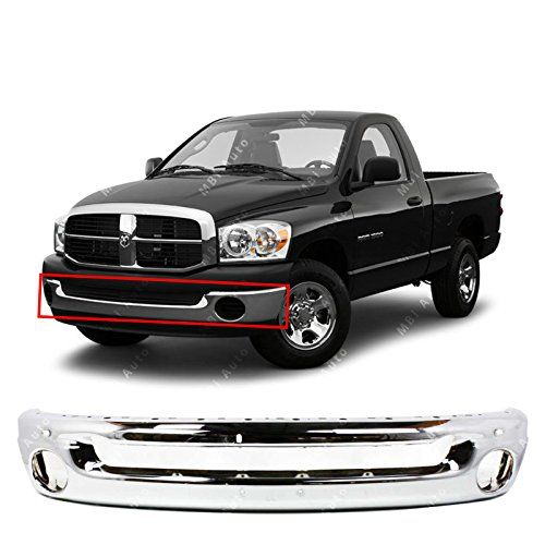 MBI AUTO - Chrome Steel, Front Bumper Face Bar for 2002-2008 Dodge RAM 1500 & 2003-2009 Dodge RAM 2500 3500 Pickup, CH1002383. For product info go to:  https://www.caraccessoriesonlinemarket.com/mbi-auto-chrome-steel-front-bumper-face-bar-for-2002-2008-dodge-ram-1500-2003-2009-dodge-ram-2500-3500-pickup-ch1002383/