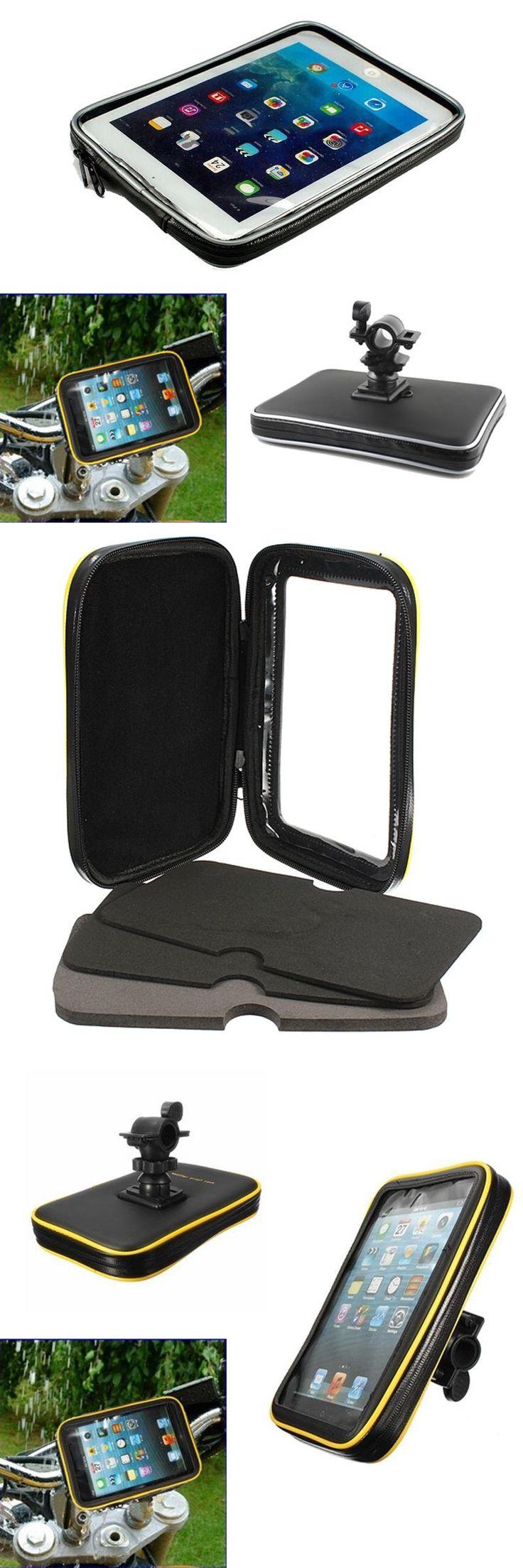 [Visit to Buy] Bicycle Motor Bike Motorcycle Handle Bar Tablet Holder Waterproof Case Bag For Samsung galaxy Tab 4 3 2 7'' for iPad Mini 3 2 1 #Advertisement