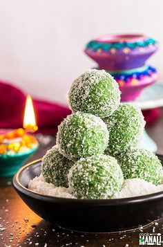 Filled with gulkand in the center, these instant Paan Coconut Ladoo are an easy sweet to make this Diwali. Done in 15 minutes!