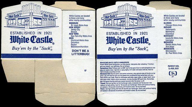 White castle hamburger images   White Castle - burger box - 1980's   Flickr - Photo Sharing!