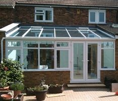 Lean-to conservatory: one of the