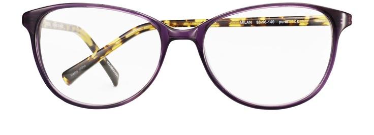 Ekologiska bågen Milan från Eco - idag det enda glasögonvarumärket i världen som gör bågar av 95% återvunnet material.