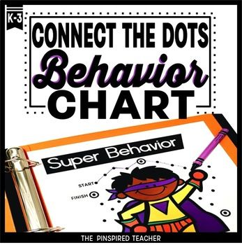 "Connect the Dots is a behavior reinforcement chart that allows students to chart their progress with behavior by connecting the dots each time they meet a behavior goal. You might say, ""Great job keeping your hands to yourself in line this morning, you may connect a dot!"""