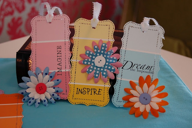 paint chip bookmarks or could use as gift tags