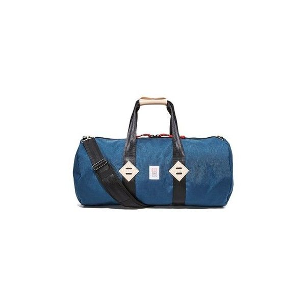 Topo Designs Classic Duffel Bag (410 BRL) ❤ liked on Polyvore featuring men's fashion, men's bags, navy and men's duffel bags