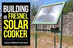 Cooking with solar energy doesn't have to be expensive or even difficult. Check out this simple DIY solar cooker project using a fresnel lens. http://graywolfsurvival.com/84068/solar-diy-building-fresnel-solar-cooker/