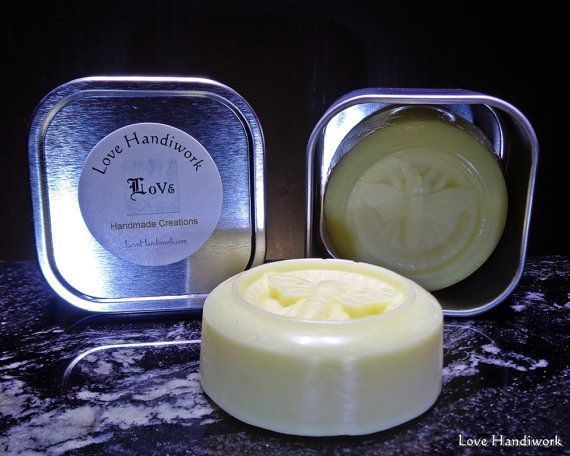 Honey Scented Beeswax Lotion Bar by LoveHandyWork on Etsy