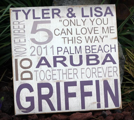 Wedding Announcement- distressed home decor, wall art, painted wood sign, typography, subway sign, home decor, rustic