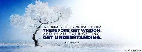 Proverbs 4:7 NKJV - Get Wisdom And Understanding. - Facebook Cover Photo