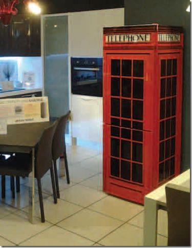 1000 idee su arredamento frigorifero su pinterest for Cabina telefonica inglese arredamento