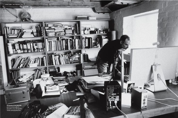Jobs in his home office  #apple #applecomputer #steve #Jobs