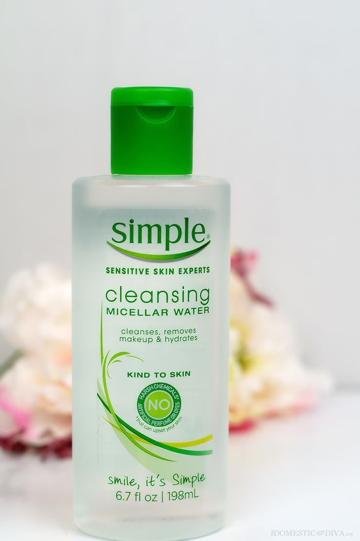 Use a makeup remover that will leave skin feeling petal soft. @simpleskincare Micellar Cleansing Water is made with micelle technology cleansing bubbles to gently attract and lift makeup while instantly hydrating skin. The Best Makeup Remover via @thedomesticdiva